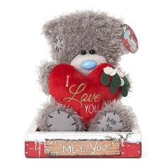 """7"""" I Love You Padded Heart Me to You Bear  £8.99"""