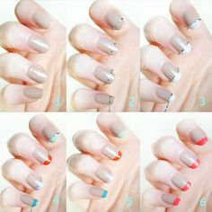 Get The Look: Multi-coloured French Manicure