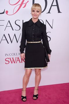 CFDA Awards 2016: The Best Dressed Celebrities on the Red Carpet: Christina Ricci in a black Coach mini-dress