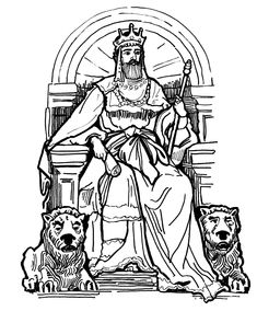 king on throne drawing - Google Search