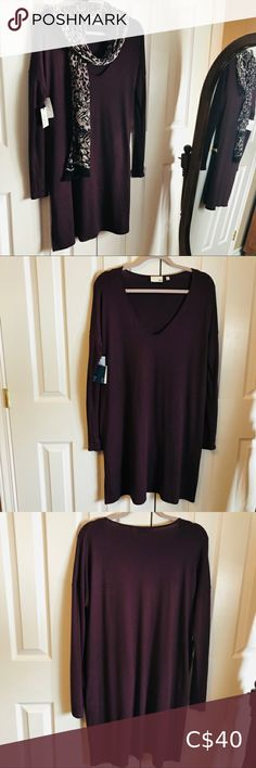 NWT Wilfred Free by Aritzia - GAIL Dress - size L A relaxed-fit dress with a deep-v neckline, pockets and slim contoured sleeves. Length is approx. Wilfred Free by Aritzia Dresses Long Sleeve Plus Fashion, Fashion Tips, Fashion Trends, Neckline, Deep, Slim, Pockets, Long Sleeve