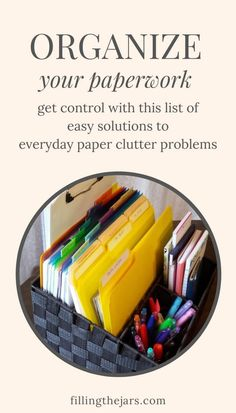 School Paper Organization, Organizing Tools, Office Organization At Work, Organizing Paperwork, Office Supply Organization, Household Organization, Home Organization Hacks, Paperwork Organization, Organising Ideas