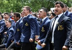 The students give it all they've got during their haka to impress the All Blacks in Auckland