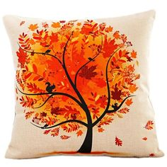 Tree of Life Cotton Linen Colorful Cushion Covers Modern Warmth Home Decorative Art Throw Pillow Case on Couch Housse Coussion