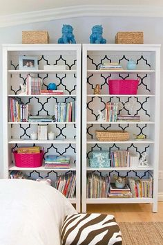 Patterned Bookcase,