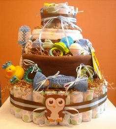 Owl Theme Baby Shower. Front.