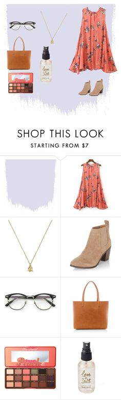 """Boho chic"" by kourtneymary on Polyvore featuring Gucci, New Look, Mansur Gavriel, Too Faced Cosmetics and Olivine"