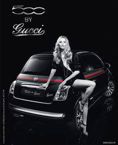 Natasha Poly For The Fiat 500 by Gucci 2012 Ad Campaign Fiat 500 Lounge, 2012 Fiat 500, Fiat 500 Pop, New Fiat, Fiat Cars, Natasha Poly, Fiat Abarth, Gucci, Motorcycles