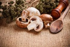 Fresh mushrooms by Grafvision photography on Creative Market
