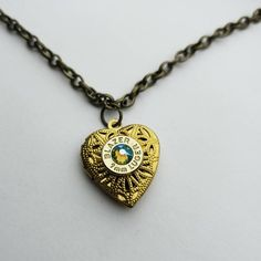 Bullet Locket Brass Filigree Heart small - Gifts for her Bullet Earrings, Bullet Shell, Heart Locket, Brass Chain, Birthstone Jewelry, Rodeo, Small Gifts, Filigree, Heart Shapes