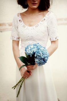 Ramo de hortensias para la novia · Wedsiting tu web de boda gratis · Blog de bodas, ideas para bodas, novias y novios