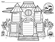 "Use these ""Haunted House Story Elements"" graphic organizer for any Halloween-themed story that you are reading! The graphic organizer with lines c. Halloween Activities, Halloween Themes, Halloween Stories For Kids, Holiday Activities, Writing Activities, Classroom Activities, Writing Lessons, Art Lessons, Haunted House Stories"