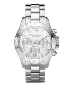 #Michael #Kors Watches Michael Kors Ladies Sport Chronograph Silver Dial #Watch              http://amzn.to/HQFt9Q