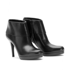 LEATHER ANKLE BOOTS seen @ www.mytheresa.com  Balenciaga