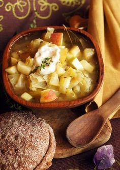 Apple Cabbage Skyrim Stew.  Vegan. Great for using up CSA veggies.