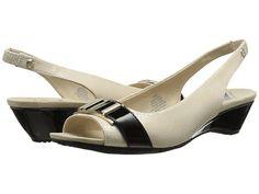 Anne Klein Anne Klein  HookedBlack Fabric Womens Dress Sandals for 34.99 at Im in!
