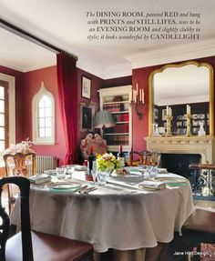 Dining room in a 17th century English home  Love, love this room