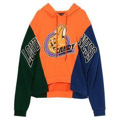 UNITE CANDY CLUB TEAM SWEAT TOPS ❤ liked on Polyvore featuring tops, hoodies, sweatshirts, orange sweatshirt and orange top