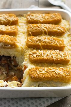 Stew Casserole With Fish Fingers A Food, Good Food, Food And Drink, Yummy Food, Vegetarian Recepies, Healthy Recipes, Fish Finger, Nom Nom, Breakfast