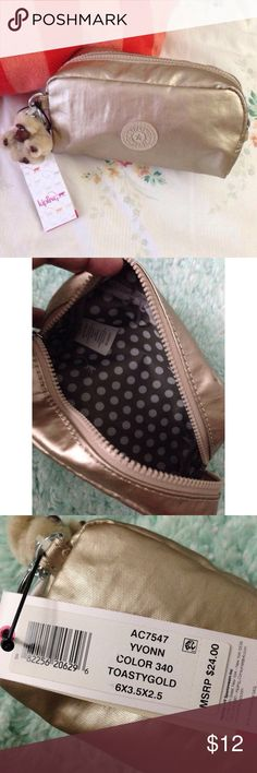 Kipling Make-up Bag NWT Kipling make-up bag. Pls. check photos & msg me for any question. Thanks Kipling Accessories