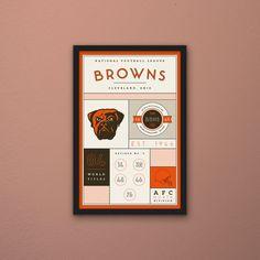 Cleveland Browns Stats Print by PortlySportsman on Etsy
