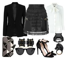 Black Outfit by teciane-ro on Polyvore featuring moda, Gucci, rag & bone, Toga, STELLA McCARTNEY, WithChic, Dsquared2, Nisan and Smoke & Mirrors