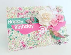 'Fly Free' card by Kylie for Kaisercraft Gallery July 2016 - via Wendy Schultz ~ Cards 1.