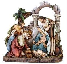 8.5 Nativity Scene Fig W/Holy Set of