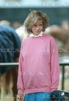 British Royalty Princess Diana arrives to watch Prince Charles play polo at Cirencester polo club, Cirencester, Britain. 1984