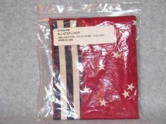 Ebay $4.99 Longaberger-1993-All-Star-Trio-Basket-Liner-All-American-Fabric-Liner-24546-EUC