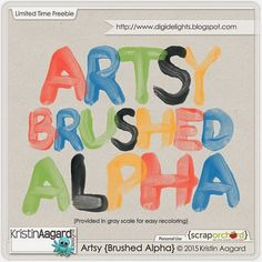 Quality DigiScrap Freebies: Artsy brushed alpha freebie from Kristin Aagard