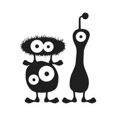 3 Funny Monster, Wandtattoo,Wandsticker, Aufkleber Holidays Halloween, Halloween Diy, Halloween Decorations, Funny Monsters, Cartoon Monsters, Doodle Monster, Game Wallpaper Iphone, Felt Animal Patterns, Art Beat