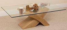 Milano X Glass & Wood Coffee Table Oak, (135 W x 80 D x 45 H cm) MODERN FURNITURE DIRECT http://www.amazon.co.uk/dp/B005M20UBU/ref=cm_sw_r_pi_dp_eBgIwb0AKEJ8P