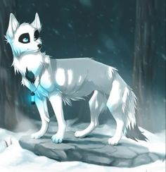 Stormwind, Female kind and caring extremly protective and while looking for a place to raise her pups she joined with Vatra and her Pack Her power is to create Ice and summon blue light her pups are Sal, Mink and Kestral.