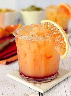 This Tequila Sunrise Margarita was made for National Margarita Day but it& . This Tequila Sunrise Margarita was made for National Margarita Day but it& good all year round with the flavors of orange and cranberry added to tequila. Tequila Drinks, Cocktail Drinks, Cocktail Recipes, Margarita Cocktail, Summer Cocktails, Party Drinks, Mixed Drinks With Tequila, Margarita Tequila, Mixed Drinks Alcohol