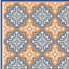 Moroccan tile pattern PDF file cushion von VictoriaHenleyDesign