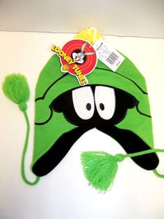 NWT LOONEY TOONS MARVIN the MARTIAN Green Knit Hat One Size Fits Most 14 yrs+ AviatorTrapper  http://www.ebay.com/itm/NWT-LOONEY-TOONS-MARVIN-the-MARTIAN-Green-Knit-Hat-One-Size-Fits-Most-14-yrs-/171541226982?roken=cUgayN&soutkn=vtwoUh