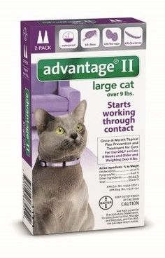 CAT CAGES - ADVANTAGE II LARGE CAT - 2PK 9LBS+ - BAYER HEALTHCARE LLC - ANIMAL - UPC: 724089682512 - DEPT: CAT PRODUCTS