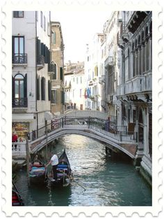 Ah Venice....I want to go on a ride in a gondola