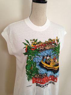 Vintage Busch Gardens Congo River Rapids Tshirt by 21Vintage