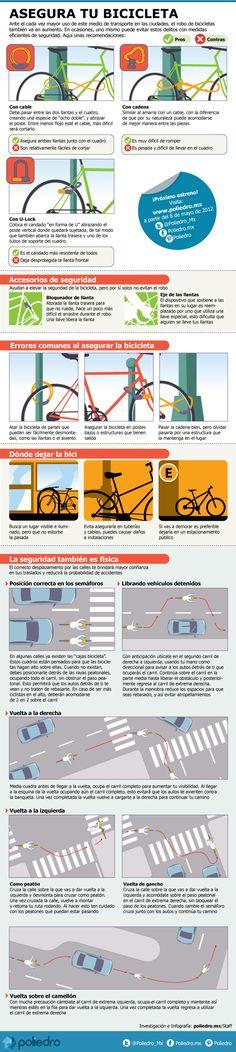 Tips para andar en tu bici por las calles de la ciudad  #mexico