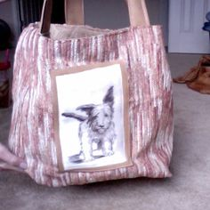 Designer fabric  $49.00 Like real leather straps and around dog picture, so much fun to carry....