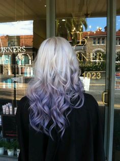 Blonde to purple ombré #hair