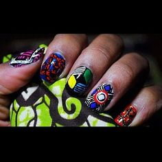 African inspired nails to finish the look