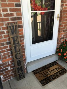 ★PRODUCT DESCRIPTION★ This is a FULL 4 FOOT TALL (48 tall by 7.5 wide x 3/4 thick) handcrafted rustic front porch REAL WOOD welcome sign. Welcome sign can be vertical or horizontal. These rustic front porch welcome signs will be a great addition to any front porch, entryway, or interior. Wood is fully sealed with two coats of our special mix of stain sealer to make the wood look weathered and help protect wood. The welcome font is painted with a hard acrylic outdoor paint. Welcome sign…