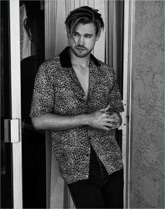 Singer Chord Overstreet sports a vintage leopard print shirt with Balenciaga jeans.