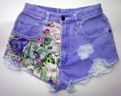 Every girl can be like the DIY Fashion ideas of Girls Short Jeans. You can be see here the result of your DIY Jeans Fashion that Changes in Diy Fashion, Ideias Fashion, Womens Fashion, Floral Fashion, Fashion Shorts, Hipster Fashion, Green Fashion, Fashion Spring, Diy Clothing