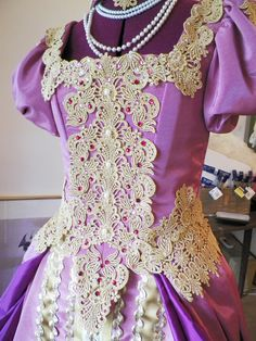 My reproduction of a Russian Court Gown or Wedding Gown