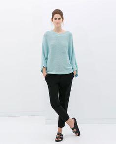 Image 1 of BOAT NECK PONCHO from Zara