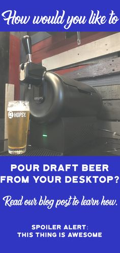 If pouring draft beers from your countertop sounds like a great plan to you, we recommend the Hopsy Beer Tap system. Watch our video which explains why. Car Part Furniture, Bamboo Furniture, Handmade Furniture, Modern Furniture, Furniture Design, Automotive Decor, Automotive Furniture, Tap System, Wedding Gifts For Men
